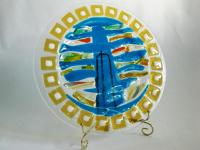 Блюдо Дерево Эко (цвет синий)