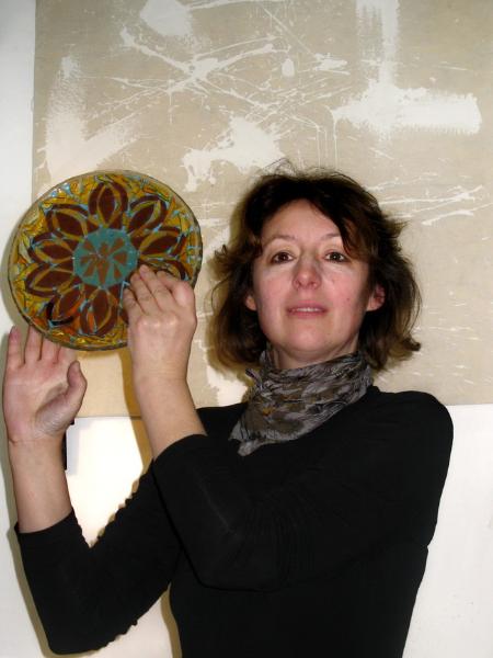 Витражная тарелка своими руками