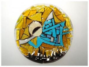 Праздничная пасхальная сервировочная тарелка