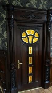 Индивидуальный заказ витражных вставок во входную дверь частного дома